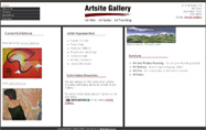 Web Design - Artsite Gallery
